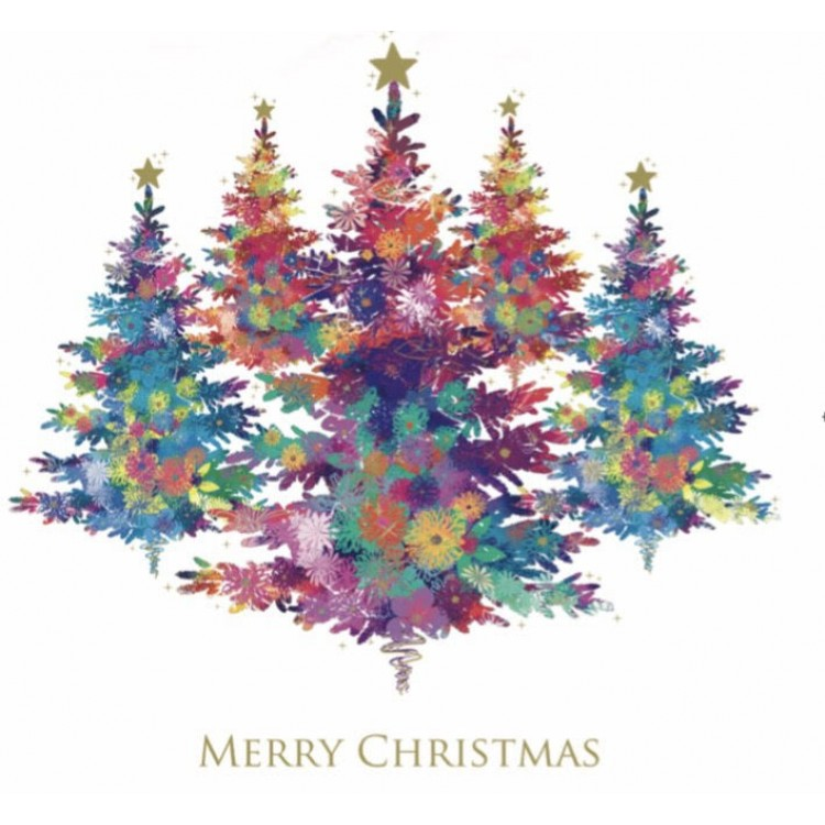 Colourful Christmas Tree Cards