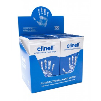 Clinell Hand Wipes - Box of 100