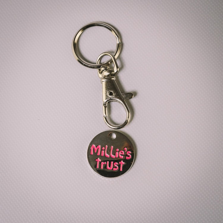 Millie's Trust Trolley Coin Keyring